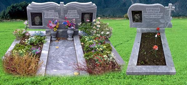 Мемориальный комплекс из двух видов гранитов Павлово
